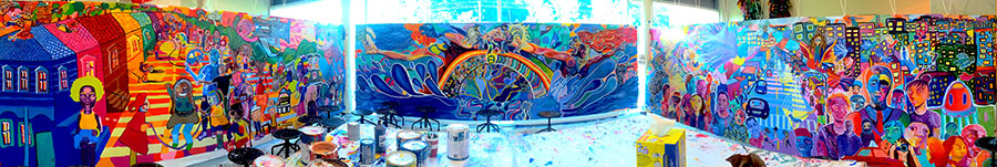 11th Street Bridge Project Panoramic Mural, courtesy of Artolution